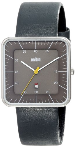 Braun Men's BN0042GYGYG Classic Calendar Analog Display Quartz Grey Watch