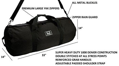 Heavy Duty Travel Equipment Duffel Bag Overwake Original (LARGE 34in. x 14in.)