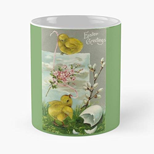 Easter Greetings Vintage Chicks The Best Gift For Holidays Coffee Mugs ()