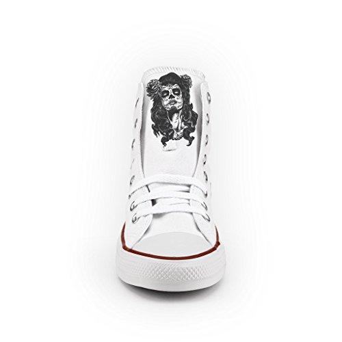 Skull oro Star scarpe All con artigianali borchie Personalizzate Converse nFX8OT8