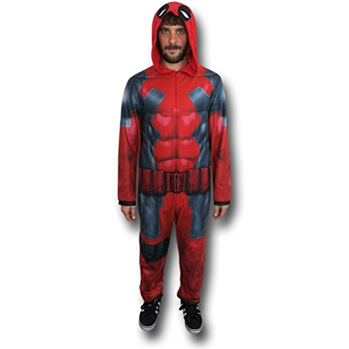 Marvel Deadpool Uniform Union Suit, Red, Large