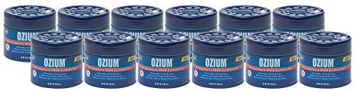 Ozium Glycolized Gel Air Freshener & Sanitizer (4.5 oz.) - 12 Pack by Ozium (Glycolized Air Sanitizer)