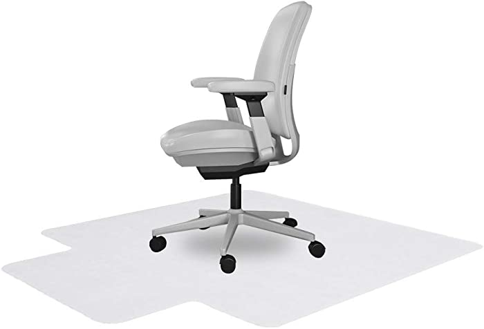 Resilia Office Desk Chair Mat with Lip – for Carpet (with Grippers) Clear, 36 Inches x 48 Inches, Made in The USA