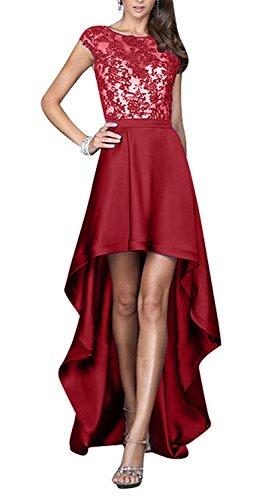 mit Festlichkleider Ballkleider La Traumhaft Abendkleider Braut Lo Rot Schleppe mia Partykleider Dunkel Brautjungfernkleider Hi HvAHxTp