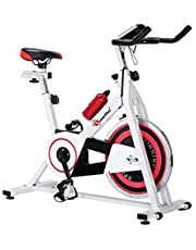 PowerMax Fitness BS-140 Home Use Group Bike/Spin Bike with Free Installation Assistance, white