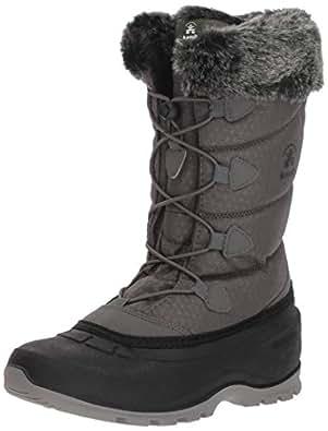 Kamik Women's Momentum 2 Snow Boot, Charcoal, 7.5 B(M) US