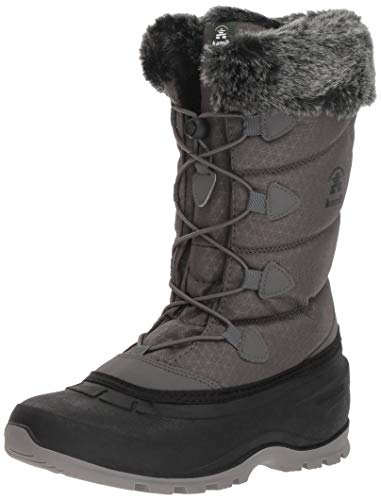Kamik Women's MOMENTUM2 Snow Boot, Charcoal, 8 Medium US (Best Boots For Snow Removal)