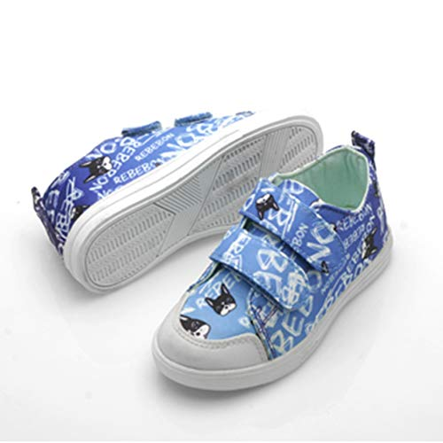 Unisex Fashion Sneakers for Comfort Casual Rebebon Adjustable Strap Shoes for Toddler /& Youth Girls Boys Kids 12 M US Kids, Blue Street Walking
