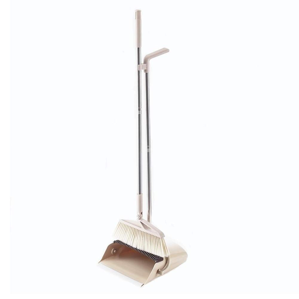 CLEVER BEAR Telescoping Handle Broom and Dustpan Combo Artifact Standing Upright Foldable Set Home or Office Sweep