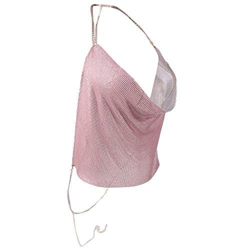 Spiaggia Da Canotte Estate Gilet Top shirt Donna Magliette T Rosa Magideal Uq78U