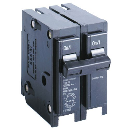 Eaton Corporation CL220CS Double Pole Ul Classified Replacement Breaker, 240V, 20-Amp