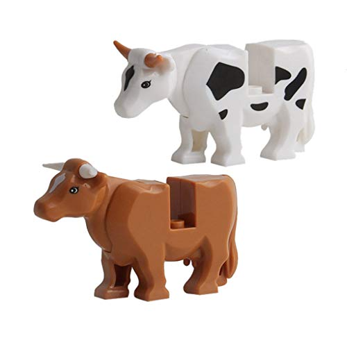 CMrtew Animals Dinosaurs Legoing Crocodile Panther Zombie Shark Cow Milk Minifigs Building Blocks Educational Toys for Children Gifts (B, Free) ()