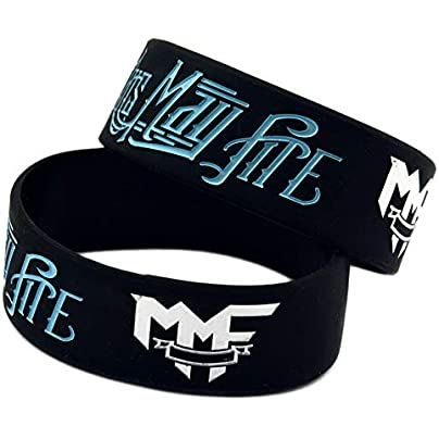 Hjyi Silicone Wristbands Rubber Bracelets Memphis May Fire Rock Band Star Silicone Bracelet Soft and Comfortable Silicone Wristband Sports Fitness Bracelet 6Pcs Estimated Price £21.99 -