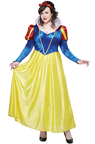 (California Costumes Women's Plus-Size Snow White Plus, Blue/Yellow, 3X)