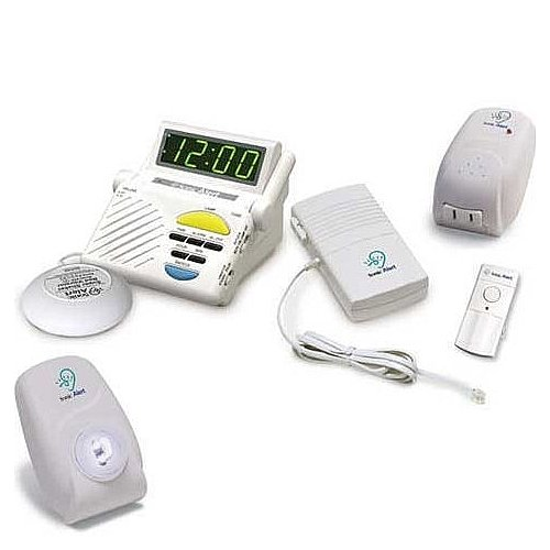 Sonic Alert SS1200C-COMBO Wireless 3-Room Signaling System for Doorbell, Phone and Alarm Clock Notification by YBS