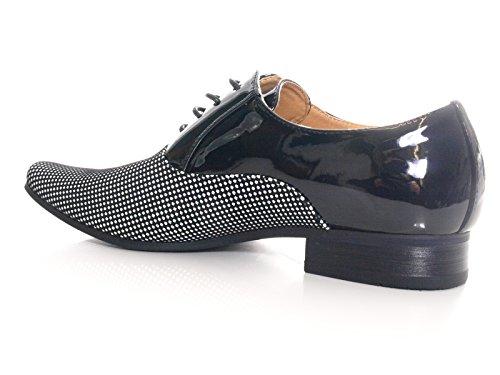 Herren Business Schnürr Schuhe Schwarz # 157-81
