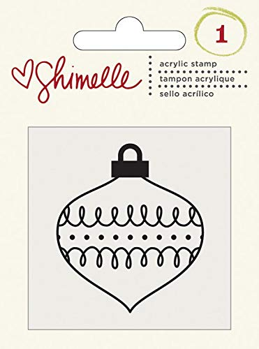 Christmas Magic Collection Clear Acrylic Stamps Ornament (12 Pack)