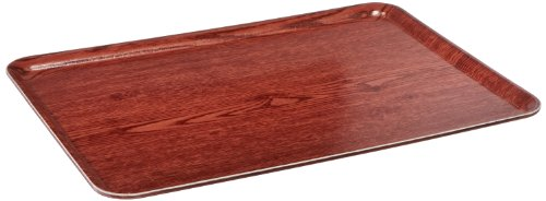 Carlisle 2115WFG065 Fiberglass Glasteel Wood Grain Metric Tray, 20.87