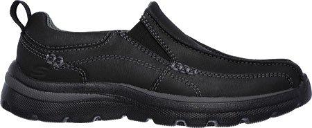 Skechers Boys' Relaxed Fit Superior Haute Slip On,Black,US 3.5 M