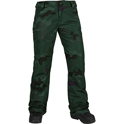 Volcom Junior's Frochickie Insulated 2 Layer Shell Snow Pant, Dark Camo, Extra Small (Gear Volcom Snow)