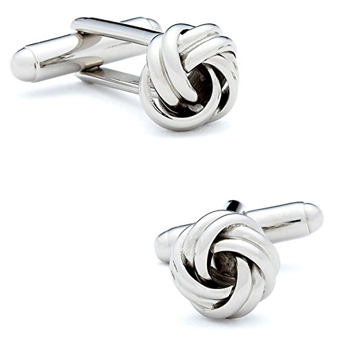 Ox and Bull Mens Plated Silver-Tone Knot Cufflinks - Silver Tone Sterling Silver Cufflinks
