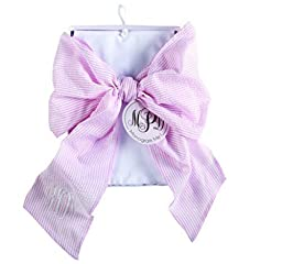 Mud Pie Big Bow Swaddle, Pink/White