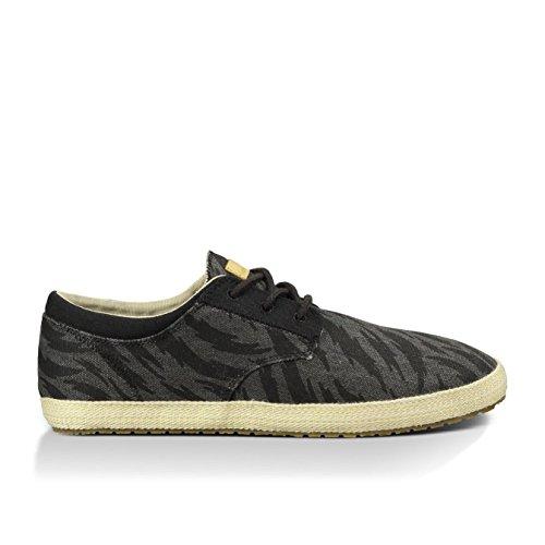 888855402831 - Sanuk Mens Cochise Loafers Shoes Footwear, Black Tigerbolt, Size 09 carousel main 0