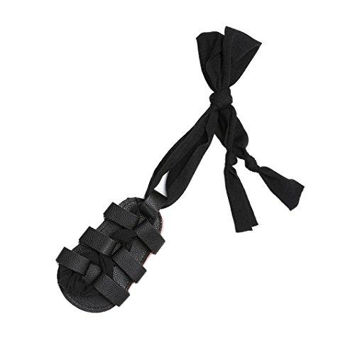 IGEMY Baby Bandage Cross-gebundene Sohle Schuhe, Mädchen Kleinkind Krippe Prewalker Schwarz