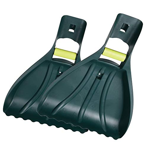 ORIENTOOLS Large Leaf Scoop Leaf Rakes,Rake Hands Grabbers/Claws Rakes Gorilla Garden Hands Leaf Rake Grabber, Garden and Yard Hand Rakes, Grass Clippings, Lawn Grass Removal with PVC Coating Handle