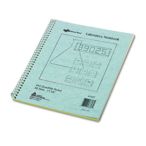 (National Brand Wirebound Duplicate Laboratory Notebook, 50 4x4 Quad Ruled & Unruled Sets/Book (43647))