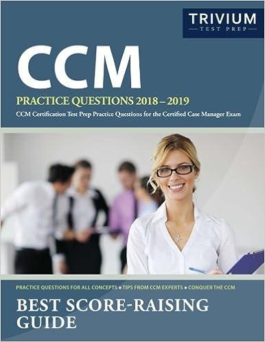 Ccm Practice Questions 2018 2019 Ccm Certification Test Prep