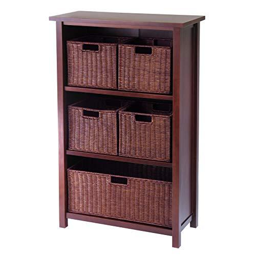 wood basket cabinet - 2