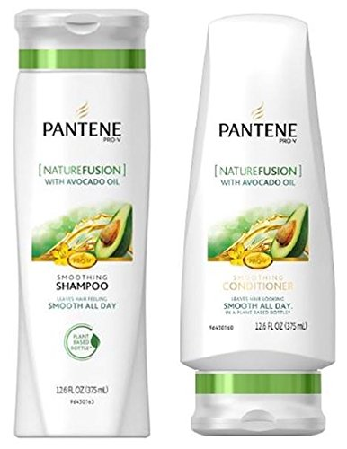 Pantene Pro-V Shampoo & Conditioner Set, Nature Fusion with Avocado Oil, 12 Ounce Each