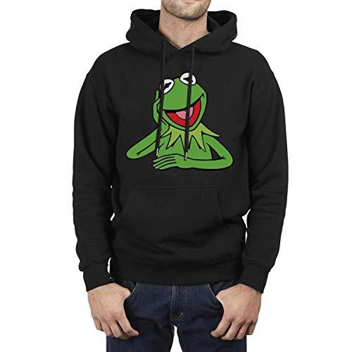 Hoodie Long Sleeve Mens Sesame-Street-Kermit-The-Frog-Take-Off- Hooded Sweatshirt