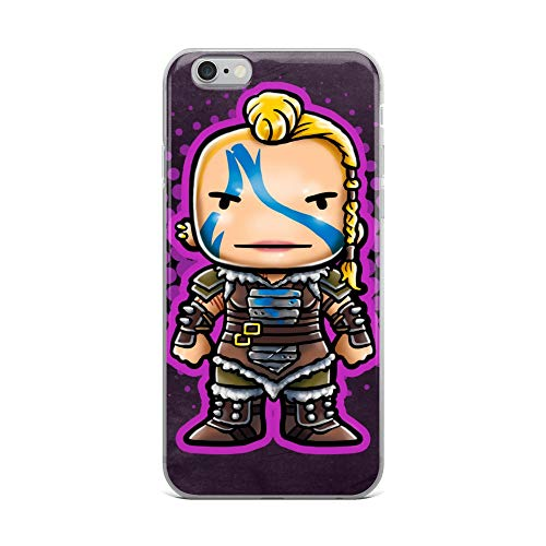 iPhone 6 Plus/6s Plus Case Anti-Scratch Animated Cartoon Transparent Cases Cover Soldier Video Game Chibi Style Cartoons Caricature Crystal Clear