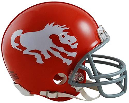 Sports Memorabilia Riddell Denver Broncos Throwback 1962-1965 VSR4 Mini Football Helmet - NFL Mini Helmets