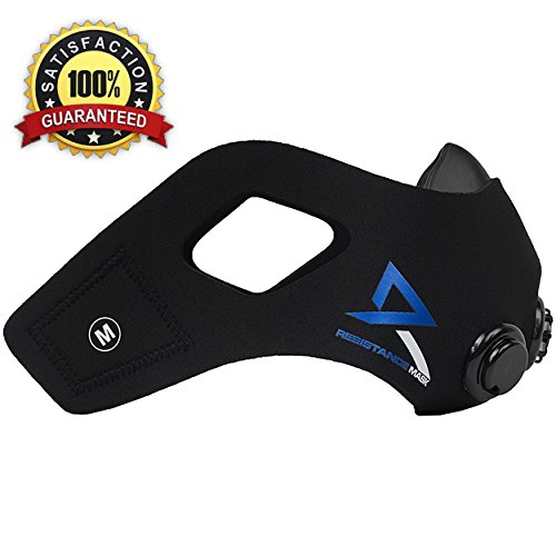 Elevation Resistance Training Mask - Medium - for Workouts for Fitness, Running, Sports, CrossFit, High Intensity Interval Training - 6 Levels Altitude Peaking Simulation Resistance