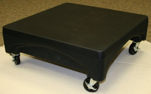Forte Products 8002291 Mini Plastic Merchandiser with Wheels, 24'' L x 24'' W x 9'' H, Black