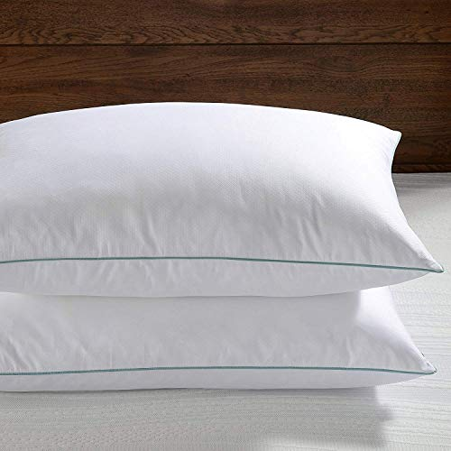 Basic Beyond Feather Down Pillow - Hotel Collection White Comfortable Soft Bed Pillow for Sleeping (Pack of 2, King Size 20x36)