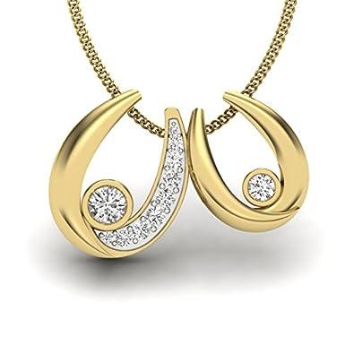 Perrian 18KT White Gold and Diamond Pendant for Women Women