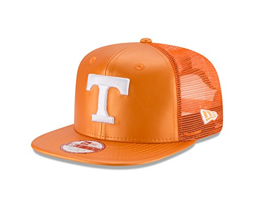 Era New Cap Leather (New Era NCAA Tennessee Volunteers Men's Team Sleek Trucker 9FIFTY Snapback Cap, Orange, One Size)