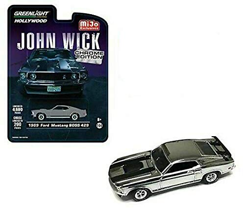 1969 Ford Mustang Boss 429 Chrome Gray Edition John Wick (2014) Movie Limited Edition to 4, 600Piece Worldwide -