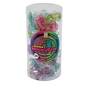 RAYMOND GEDDES SPARKLE GUMMY BEAR TOPPER 24/TUB