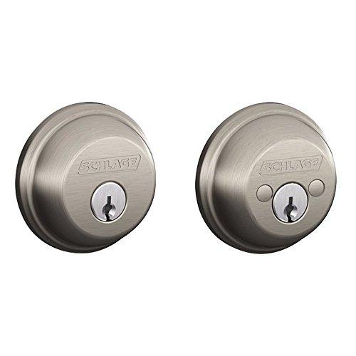 (SCHLAGE Lock CO SCHLAGE Lock CO B62NV619 Satin Nickel Double Cylinder Deadbolt )