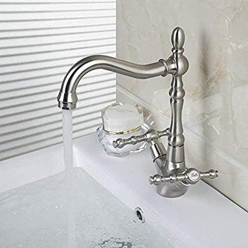 ZT-TTHG タップ現代のソリッドブラス浴室ソリッドブラスの蛇口ミキサータップスイベルホットとコールドのミキサーのタップデュアル浴室の蛇口はハンドル