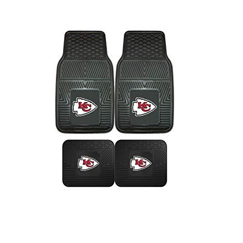Kansas City Chiefs NFL 4pc Floor Mat Sets (Front and Rear) - Heavy Duty-Cars, Trucks, SUVs