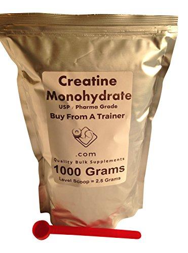 1000 Grams Creatine Monohydrate Pure Powder (2.2 Lbs) Muscle Kilo Kilogram 1000g