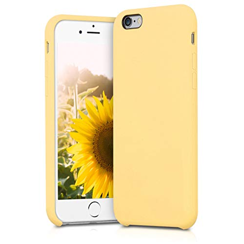 kwmobile TPU Silicone Case for Apple iPhone 6 / 6S - Soft Flexible Rubber Protective Cover - Yellow Matte