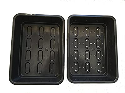 Seedling Starter Trays - Germination Kit - Drip Tray and Tray with Holes