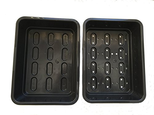 $12.99 Seedling Starter Trays – Germination Kit – Drip Tray and Tray with Holes 2019